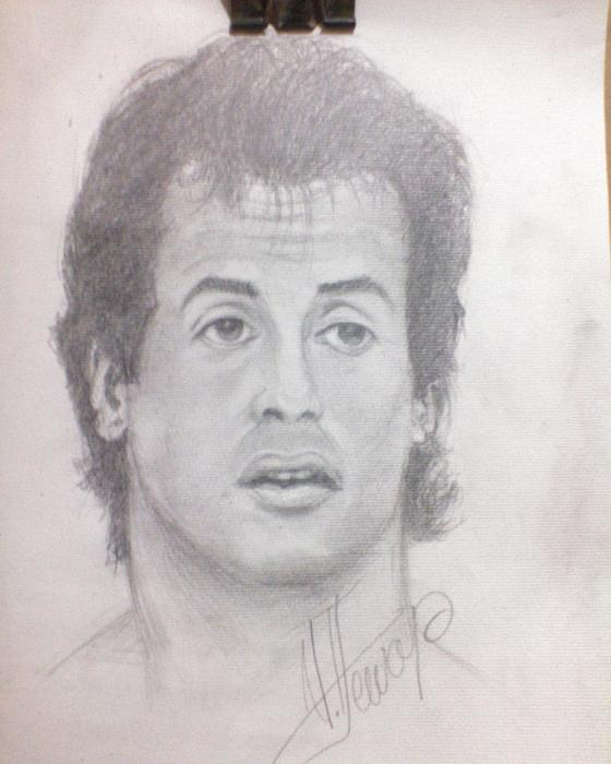 Sylvester Stallone by unknown
